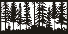24 X 48 Just Trees Plasma Art Free DXF File