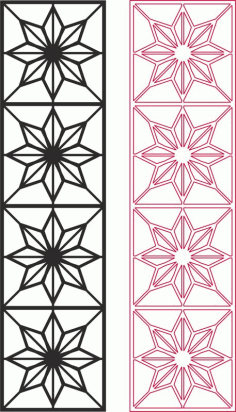 Star Pattern Vector Free DXF File