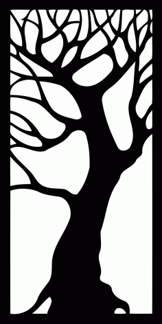 Tree – Decorative Panel Free DXF File