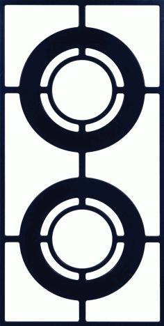 Unframed Grille Pattern 300-v140 Free DXF File