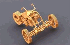 Cnc Laser Cut Tricycle Model Free CDR Vectors Art