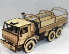 Cnc Laser Cut Truck Model Kamaz Free CDR Vectors Art