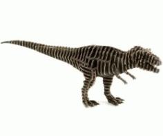 Cnc Laser Cut Tyrant Dinosaur Puzzle Free CDR Vectors Art