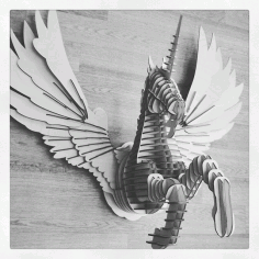 Dragon Horse Laser Cut Free CDR Vectors Art