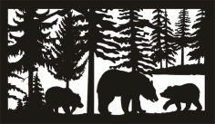 28 X 48 Three Bears Plasma Art Free DXF File