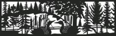 30 X 96 Loon Panel No Mountains Plasma Metal Art Free DXF File