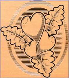 сердечки листочки Free DXF File