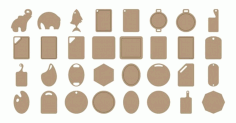Laser Cut Cutting Board Designs Free CDR Vectors Art