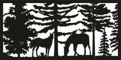 Plasma Cut Art Panel Free DXF File