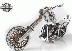 Harley Davidson Laser Cut Free CDR Vectors Art
