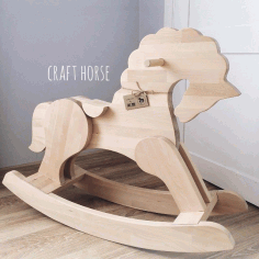 Horse For Children Screwed Parts Cnc Router Free CDR Vectors Art