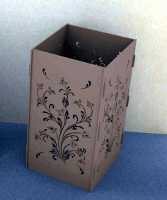 Laser Cut Decorative Vase Floor Vase Decor Free CDR Vectors Art