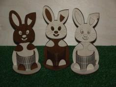 Easter Bunny Pencil Holder Desk Organizer Free CDR Vectors Art