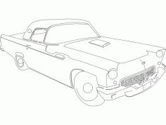 55t Bird Car Sticker Free DXF File