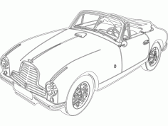 Aston Car Sticker Free DXF File