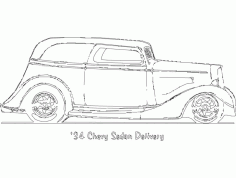 Car Stickers 34 Chevy Sedan Delivery Free DXF File