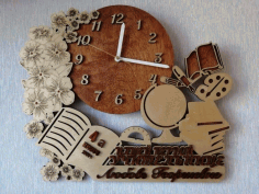 Laser Cut Multilayer Decor Pattern Clock Free CDR Vectors Art