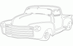 Chevy Car Sticker Free DXF File