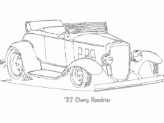 Chevy Roadster Car Free DXF File