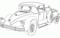 Sketch Vintage Car Free DXF File