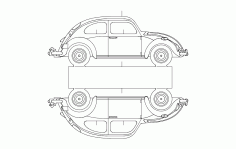 Vw 5 Car Free DXF File