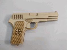 Pistol Laser Cut Plan Free CDR Vectors Art