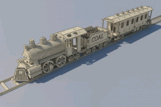 Train Cnc Laser Cutting Free CDR Vectors Art