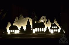 Vectores navideños Navidad Corte Laser Casas escenario-3 Free CDR Vectors Art