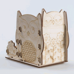 Cnc Cut Pencil Holder Sovushki Free CDR Vectors Art