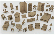 Mini Furniture Laser Cut Plan Free CDR Vectors Art