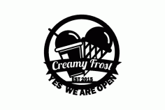 Creamy Frost Free DXF File