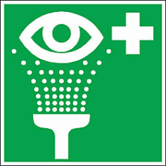 green-eyewash-sign Free DXF File