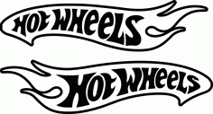 Hot Wheels D Free DXF File