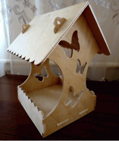 Wooden Bird House Free DXF File