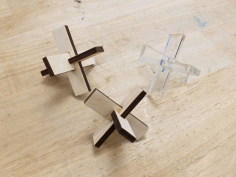 Wooden Acrylic Puzzles Free DXF File