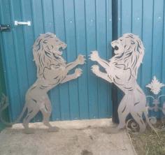 Laser Cut Lion Art Plasma Cut Free DXF File