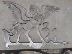 Laser Cut Pegasus Weathervane Plasma Art Free DXF File