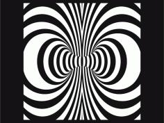 Swirl Laser Cut Free DXF File
