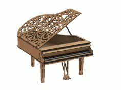 Laser Cut Piano Free CDR Vectors Art