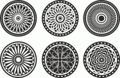 Circle Ornament Elements Free CDR Vectors Art