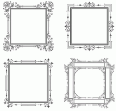 Decorative Frame Vector Set Artwork Free CDR Vectors Art