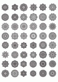 Decorative Mandala Laser Cut Free CDR Vectors Art