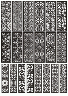 Pattern Panel Templates Free CDR Vectors Art