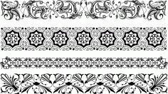 Borders Ornamental Set Free CDR Vectors Art