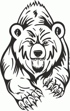 Grizzly Bear Free CDR Vectors Art