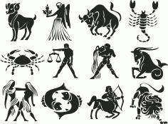 Zodiac Stencil Free CDR Vectors Art