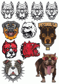 Dogs Image Collection Free CDR Vectors Art
