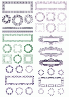 Ornaments Frames Free CDR Vectors Art
