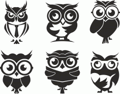 Owl Set Free CDR Vectors Art