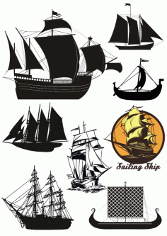 Ships Vector Set Free CDR Vectors Art
